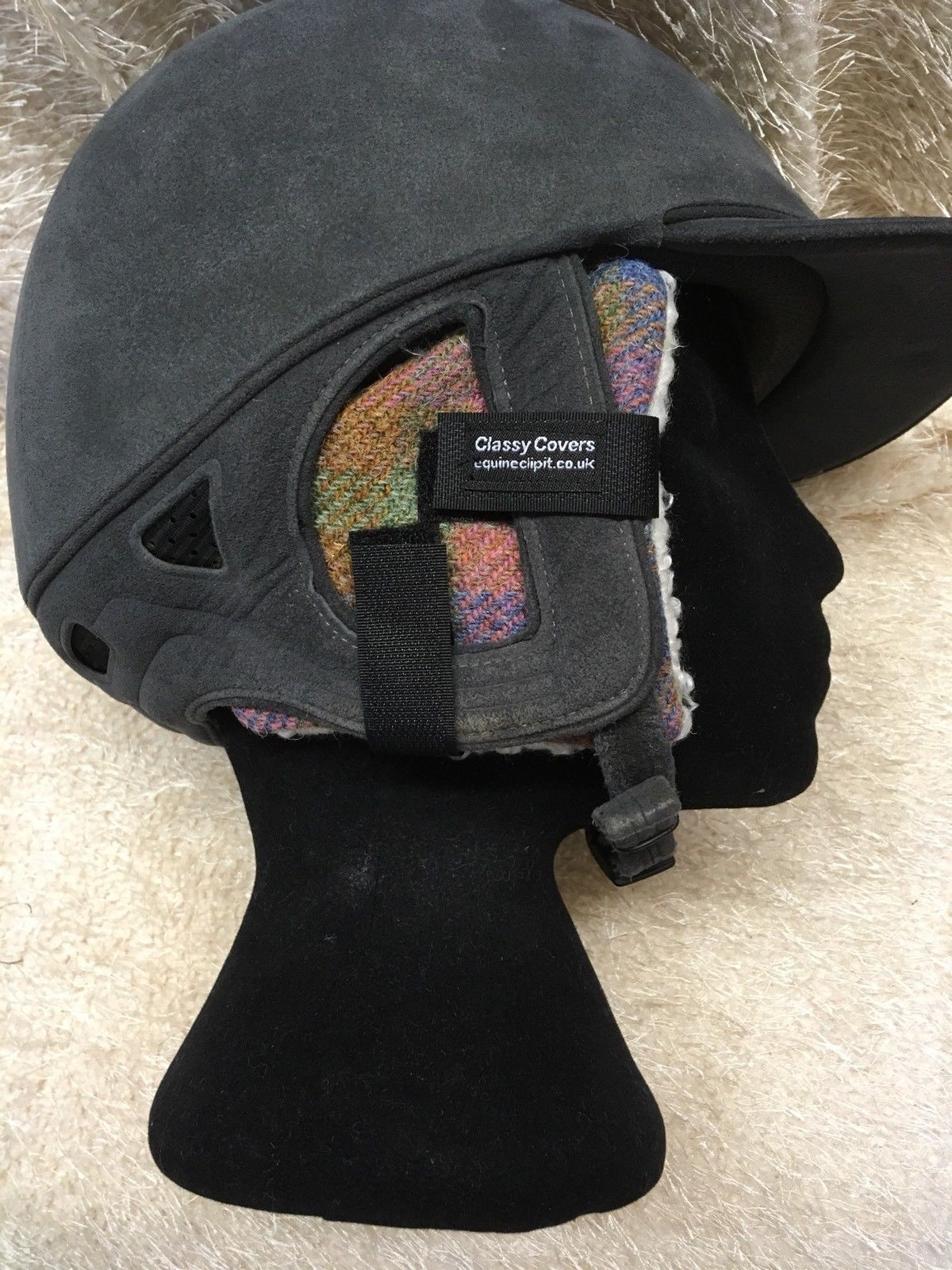 03172b895 Harris tweed riding hat ear muffs