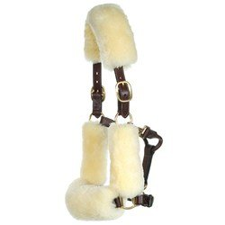 Stephens sheepskin halter set