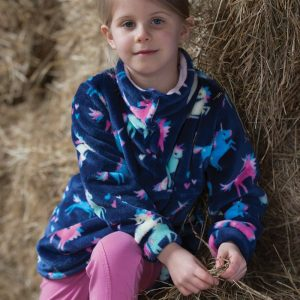 Dinky Rider Unicorn Fleece - Navy