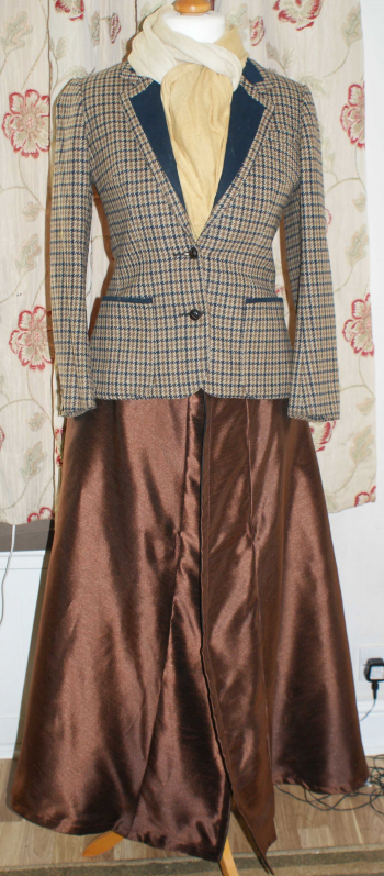 Brown long length superskirt