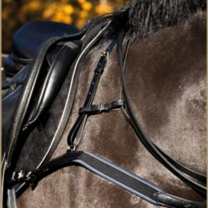 Stubben 3 point padded leather breastplate